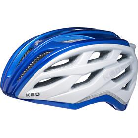 KED Xant - Casco de bicicleta - azul/blanco